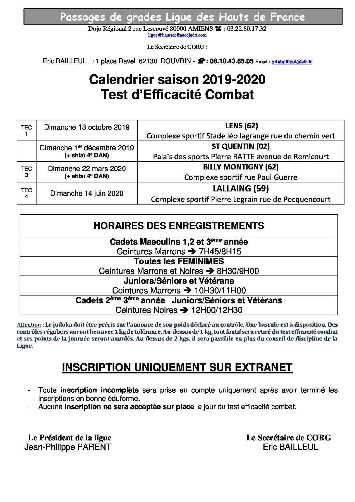 Calendrier Saison 2020.Calendrier Saison 2019 2020 Des Examens Uv 3 Test D
